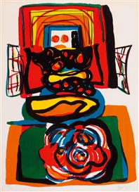 Artwork by Karel Appel, Le grande tête rouge, Made of Colour lithograph