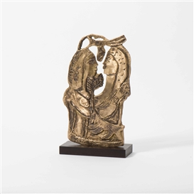 Artwork by Corneille, Les deux soeurs, Made of Bronze on wooden