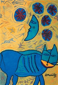 Corneille, Lune et chat