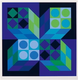 Artwork by Victor Vasarely, Composition, Made of Screenprint