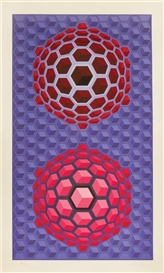 Artwork by Victor Vasarely, Untitled, Made of serigraph