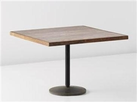 Artwork by Balkrishna Doshi, Le Corbusier, Rare table, designed for the Institute of Indology, Ahmedabad, Made of Teak, plastic laminated wood, painted tubular metal, painted metal