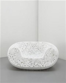 Artwork by Marcel Wanders, Crochet; chair, Made of Crocheted fiber, epoxy resin
