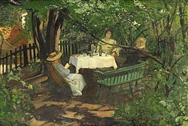 Artwork by Christian Krohg, From Green Street 19, Made of Oil on canvas