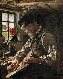 Artwork by Peder Severin Krøyer, shoemaker, Made of Oil on canvas