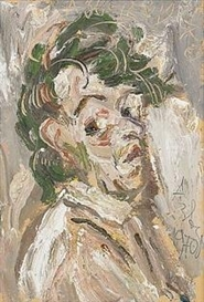 Artwork by Anatoly Zverev, Self Portrait, Made of Oil on cardboard