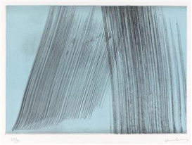 Artwork by Hans Hartung, Untitled (Turquoise), Made of colour etching on vellum