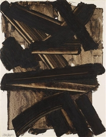 Pierre Soulages, BROU NUTS ON PAPER