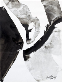 Artwork by Paul Jenkins, COMPOSITION, Made of ink wash on paper