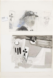 Artwork by Jean Le Gac, UNTITLED, Made of Drawing and collage on paper