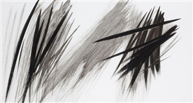 Artwork by Hans Hartung, COMPOSITION CP-1966, Made of Ink on paper