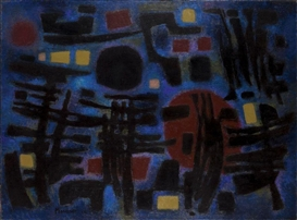 Artwork by Alfred Manessier, THE NIGHT, Made of Oil on canvas