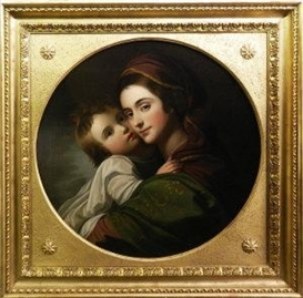 Artwork by Benjamin West, Elizabeth Shewell West and her Son, Raphael, Made of oil on canvas