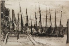 Artwork by James McNeill Whistler, Billingsgate, Made of etching