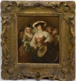 Artwork by William Hogarth, The Beautiful Drummeress, Made of oil on canvas