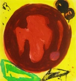 Artwork by John Hoyland, Mirage, Made of etching with aquatint printed in colours