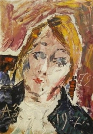 Anatoly Zverev, Portrait of a woman