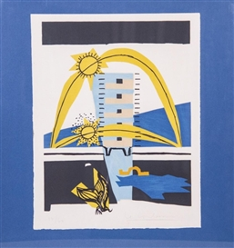 Artwork by Le Corbusier, Poem's right angle, Made of Lithograph