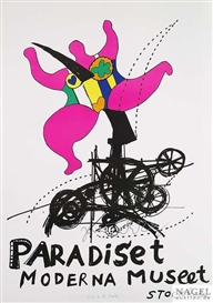 Artwork by Niki de Saint Phalle, Paradiset, Made of lithograph