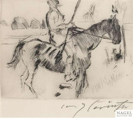 Artwork by Lovis Corinth, Don Quichote, Made of Etching
