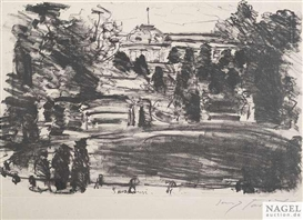 Artwork by Lovis Corinth, Sanssouci, Made of Lithograph