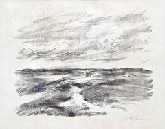 Artwork by Max Liebermann, Aus Nordwyk, Made of Chalk lithograph on laid paper