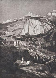 Artwork by Max Klinger, 3 Works: Konvolut von 3 Bl. aus der Folge Intermezzi, Made of aquatint and etching on vellum