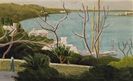 Artwork by John Goodwin Lyman, Warwick, North Shore II, Made of oil on canvas board