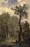 Carl Gustav Carus, Landscape Study, presumably Rosental near Leipzig