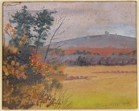Artwork by Abbott Handerson Thayer, Blue hill, Made of oil on canvas