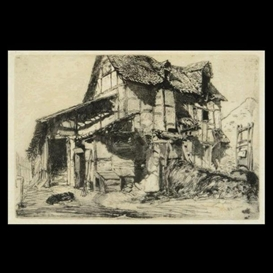 Artwork by James McNeill Whistler, Unsafe Tenement, Made of Etching