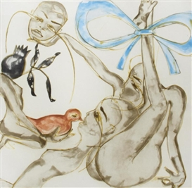 Artwork by Francesco Clemente, Blue Ribbon, Made of Aquatint in colors on wove paper