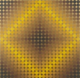 Artwork by Victor Vasarely, Diaf Positive; Diaf Negative, Made of Screenprints in colors on wove paper,