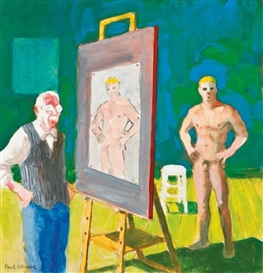 Paul Wonner, Artist and Model Hands on Hips: Youth and Old Age
