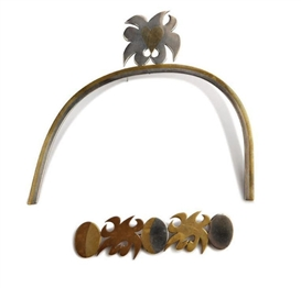 Artwork by Carol Summers, 2 Works: Brooch and Pin, Made of Brooch: sterling silver, bronze and gold; pin: sterling silver and bronze