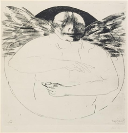 Leonard Baskin, Winged Figure