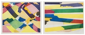 Artwork by Piero Dorazio, 2Works: Untitled Abstracts, Made of color etching