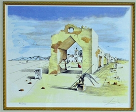 Artwork by Salvador Dalí, Paranoic Village, Made of Offset Lithograph