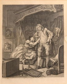 Artwork by William Hogarth, 2 Works: Before; After, Made of Engravings on wove paper, printed