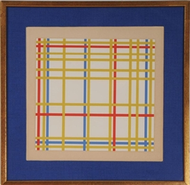 Artwork by Piet Mondrian, GRID, Made of Serigraph
