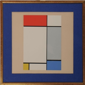 Piet Mondrian, ARRANGEMENT IN RED, WHITE, GRAY AND YELLOW