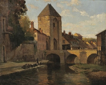 Washing Day, Moret By Frederick J. Mulhaupt
