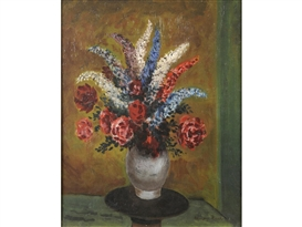 Artwork by Mervyn Peake, A VASE OF FLOWERS, Made of oil on canvas
