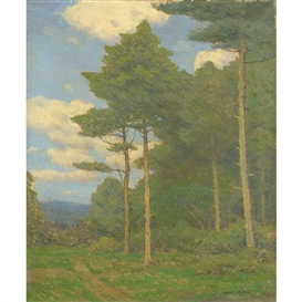 Artwork by Charles Warren Eaton, Midsummer, Made of Oil on canvas