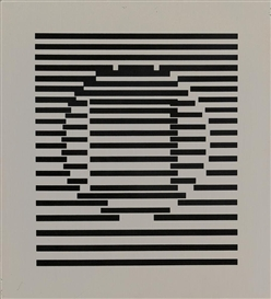Artwork by Victor Vasarely, Senza titolo, Made of multiple of metal