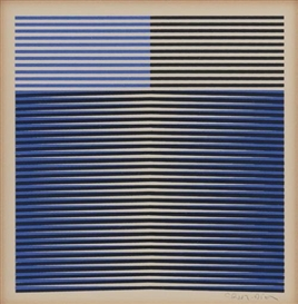 Artwork by Carlos Cruz-Diez, Senza titolo, Made of mixed media on cardboard