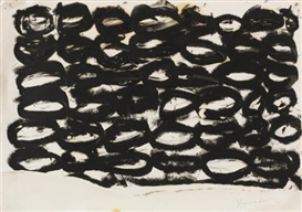 Artwork by Jannis Kounellis, Senza titolo, Made of tar paper