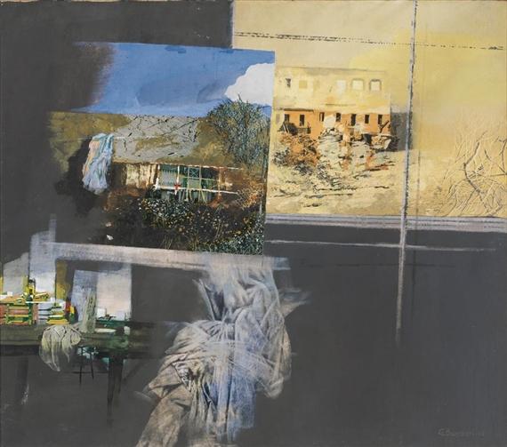 banchieri giuseppe ambiente e finestra 1965 mutualart