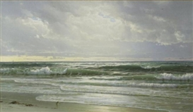Artwork by William Trost Richards, Gentle Surf, New Jersey Coast, Made of Oil on canvas
