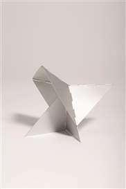 Artwork by Lygia Clark, Caranguejo (from the Bichos series), Made of aluminum
